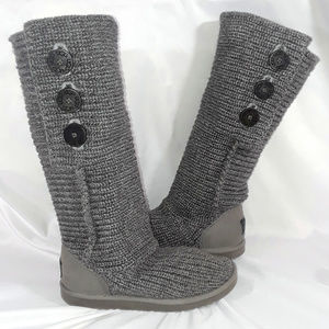 UGG Classic Cardy Knit Boot Grey